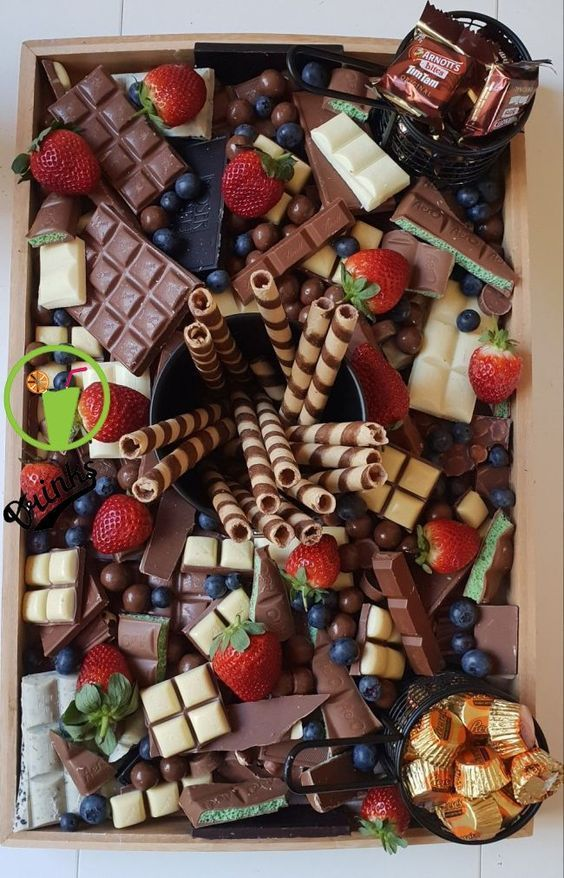 chocolate platter for their baby shower.. When a friend asks you to create a chocolate platter for their baby shower....
