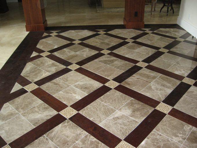 Image Result For Marble Entry Floor With Decorative Inserts Tile Floor Wood Floor Design Patterned Floor Tiles