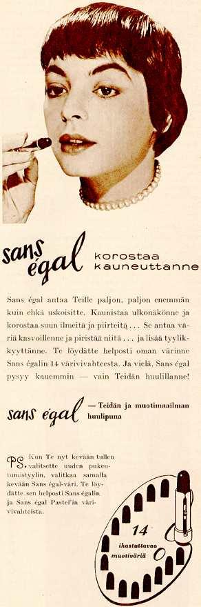 50-luvun mainos (Anneli Sauli)