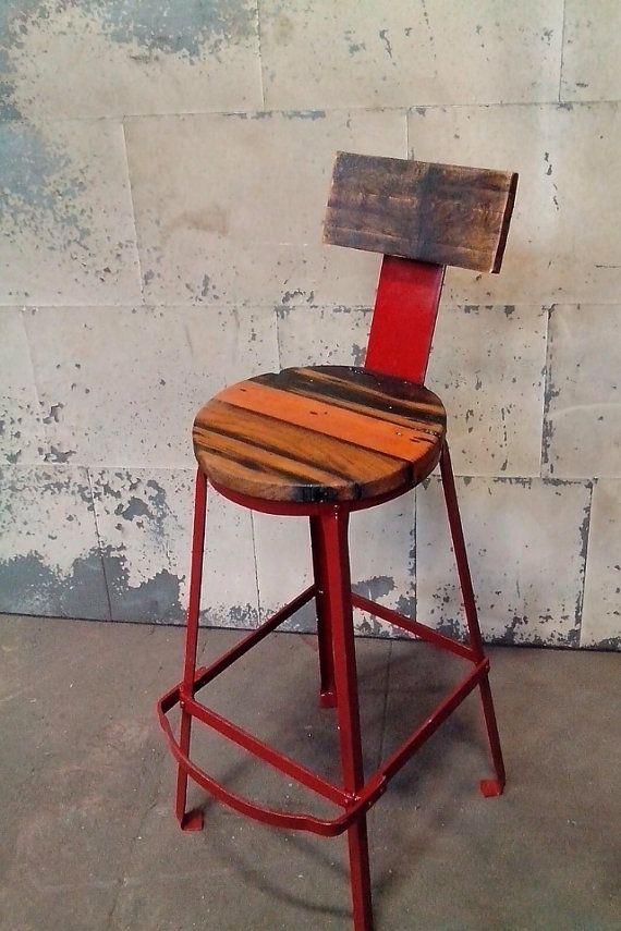 Fantastic Reclaimed Douglas Fir Beam Bar Stool Bar Stools By Machost Co Dining Chair Design Ideas Machostcouk