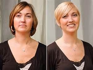 short hair makeovers before and after Cheveux et Relooking