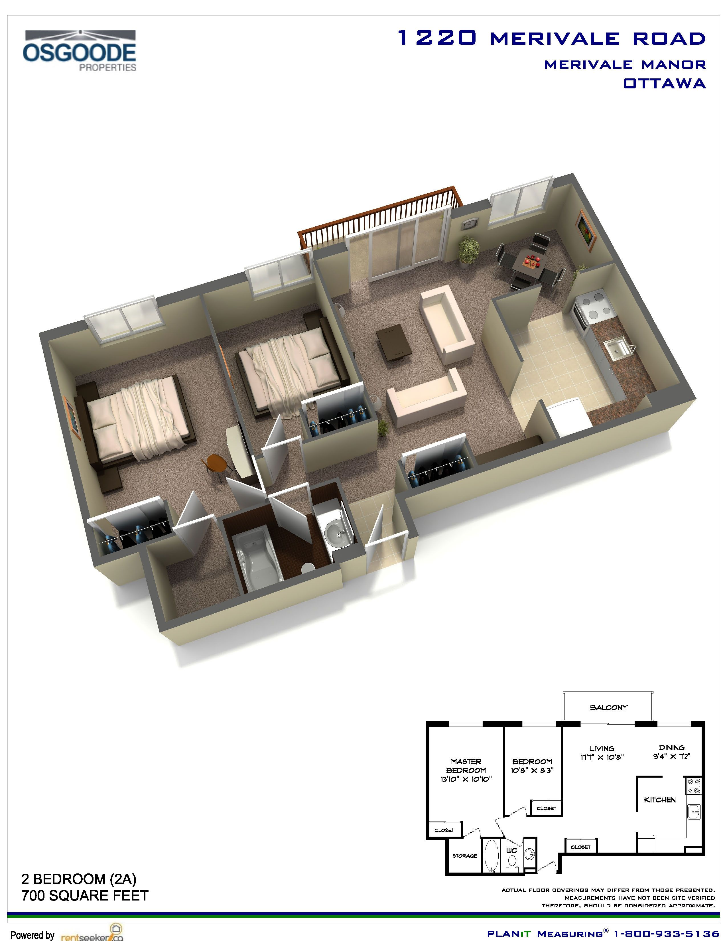 Apartments For Rent At Merivale Manor In Ottawa Renterspages Com Little House Plans House Plans Bedroom Floor Plans