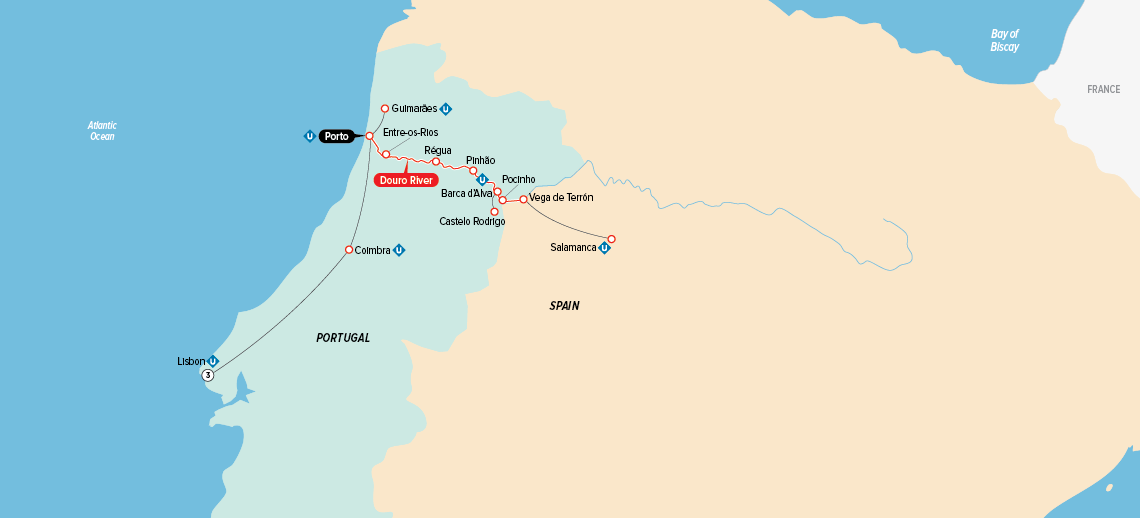 portugal  spain  u0026 the douro river valley map in 2019