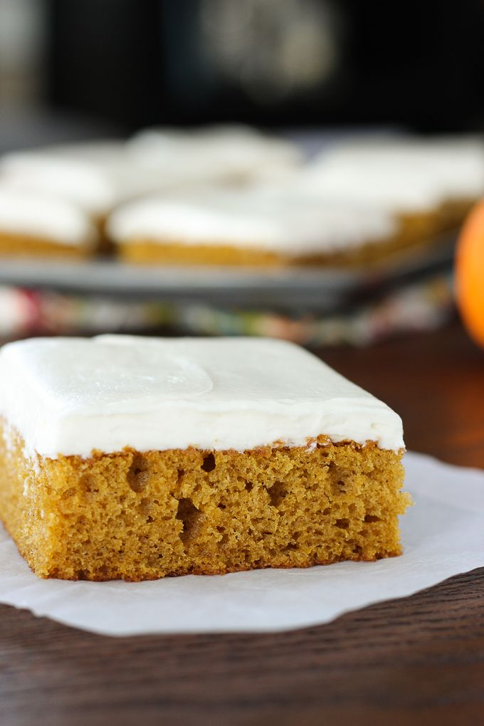 Light and fluffy pumpkin bars topped with a rich creamy decadent light and fluffy pumpkin bars topped with a rich creamy decadent cream cheese frosting aloadofball Image collections