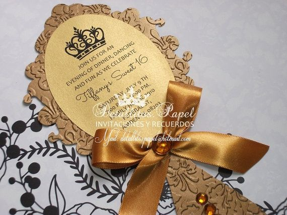 Quinceanera Invitations Beauty And The Beast - Premium Invitation Template Design | Bliss Escape