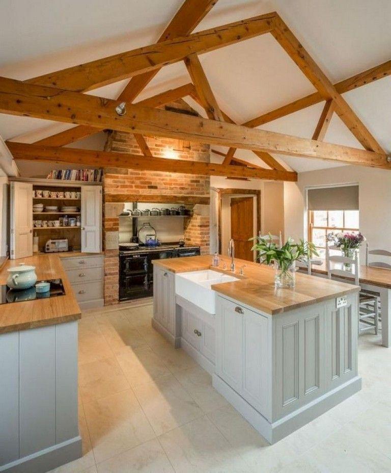 31+ Stunning Farmhouse Kitchen Design Ideas To Bring Modern Look images