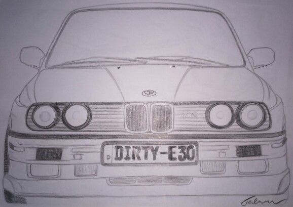 Bmw E30 My Art Atb In 2019 Pinterest Drawings Pencil