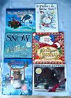 Lot of 6 Children's Christmas Holiday Books FROSTY RUDOLPH SNOW POLAR EXPRESS
