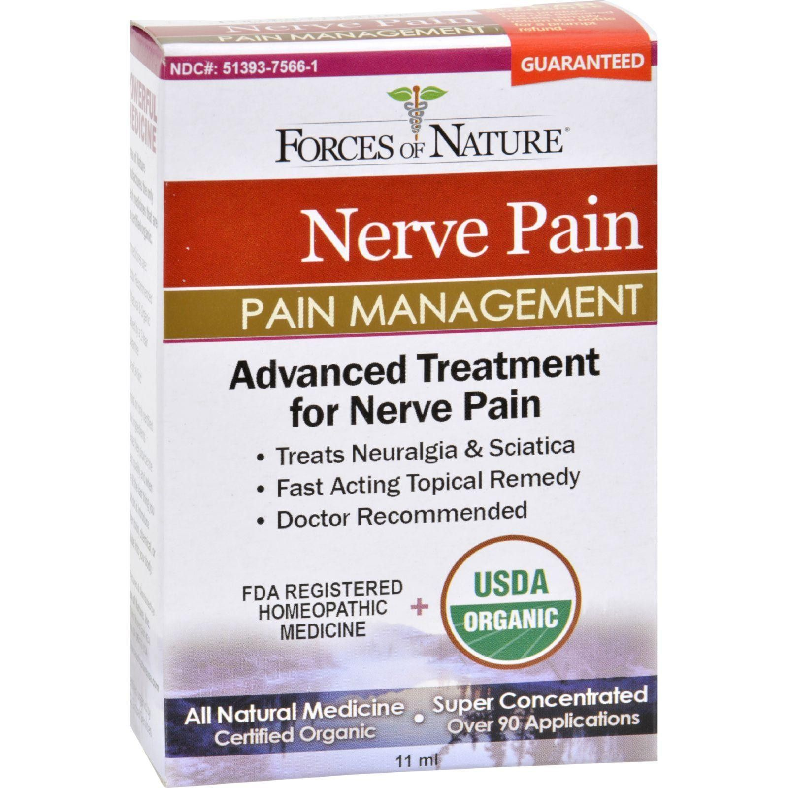 Forces Of Nature Organic Nerve Pain Management - 11 Ml - The Green Life - 2