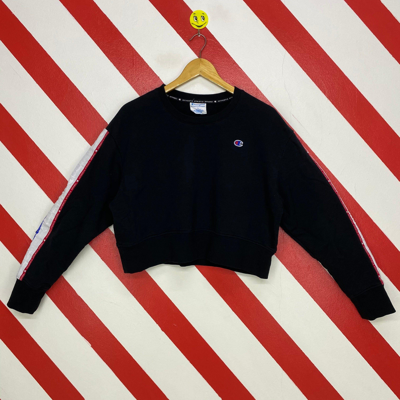 Vintage Champion Sweatshirt Crewneck Champion Crop Top Sweater Streetwear Champion Patch Logo Grey Champion Champion Sweatshirt 90s Streetwear Crop Top Sweater [ 3000 x 3000 Pixel ]