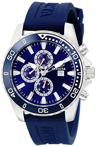 Men's Wrist Watches - Invicta Mens 10922 Specialty Dark Blue Dial Dark Blue Polyurethane Watch >>> Want to know more, click on the image.
