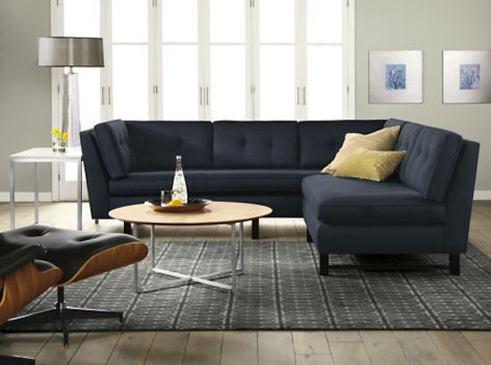 Navy Blue Sectional And Gray Walls Feels Too Masculine