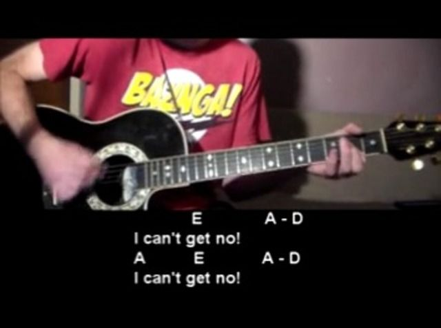 Satisfaction - Rolling Stones - Guitar Tutorial | Rolling stones ...