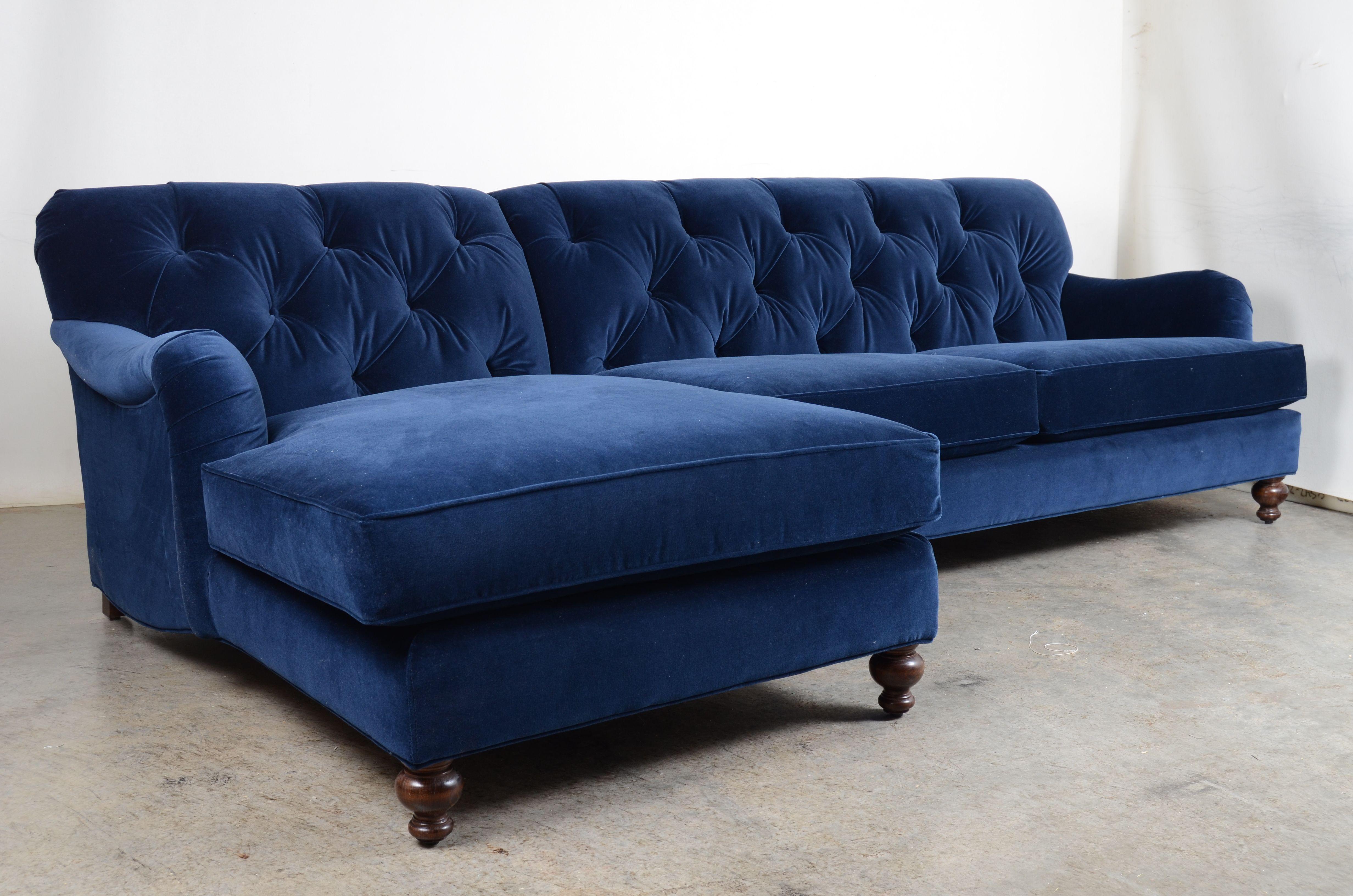 Our Eastover Chaise Sofa In Como Indigo Velvet Available As A Double Chaise As Well Indigo Indigointerior Bluevelv Blue Velvet Sofa Chaise Sofa Home Decor