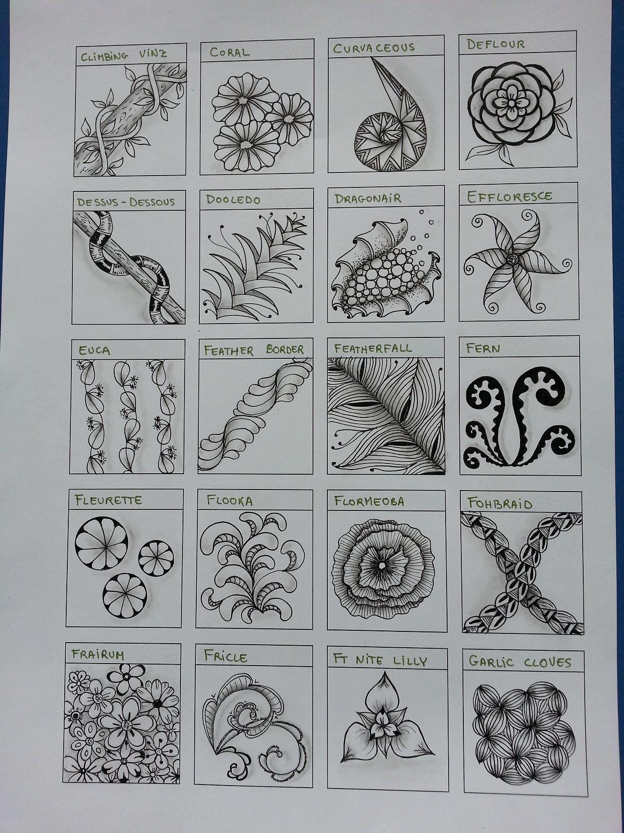 Tangles Qrg 11 Mandala Pinterest Zentangle Zentangle Muster