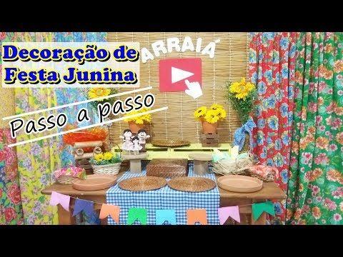 Ideias para decoração de Festa Junina + Ana Maria Braga no senário Junino - YouTube