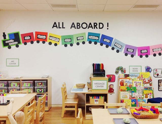 Classroom Decoration For Nursery Class : Last years welcome board. all aboard the class train! kiddos loved