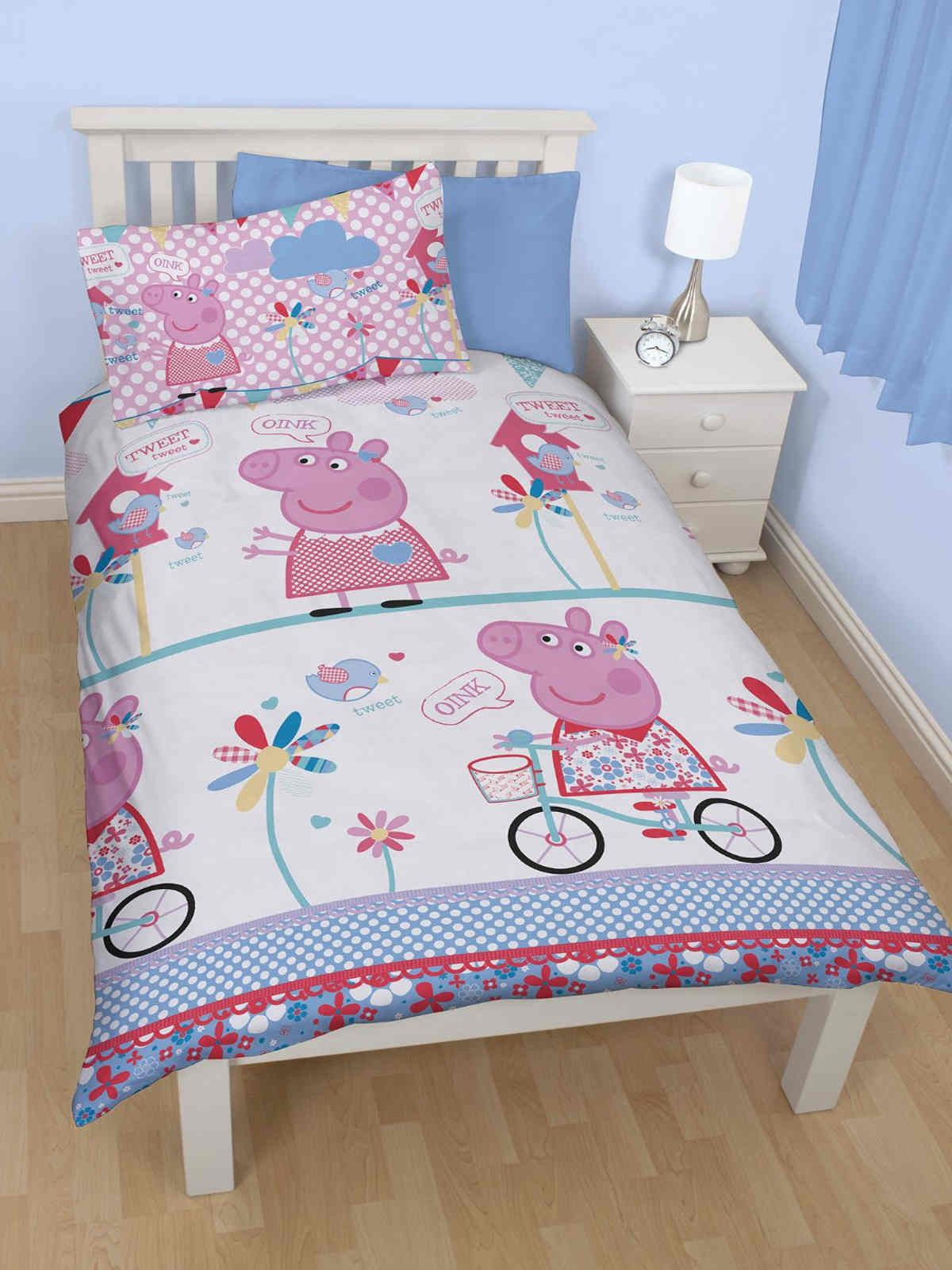 Peppa Pig Tweet Single Duvet Cover Set Polyester Lilly's