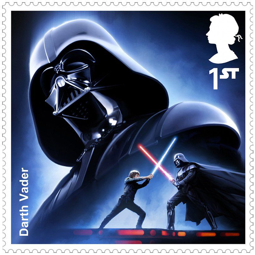 send letters to a galaxy far, far away with royal mails star wars stamp series