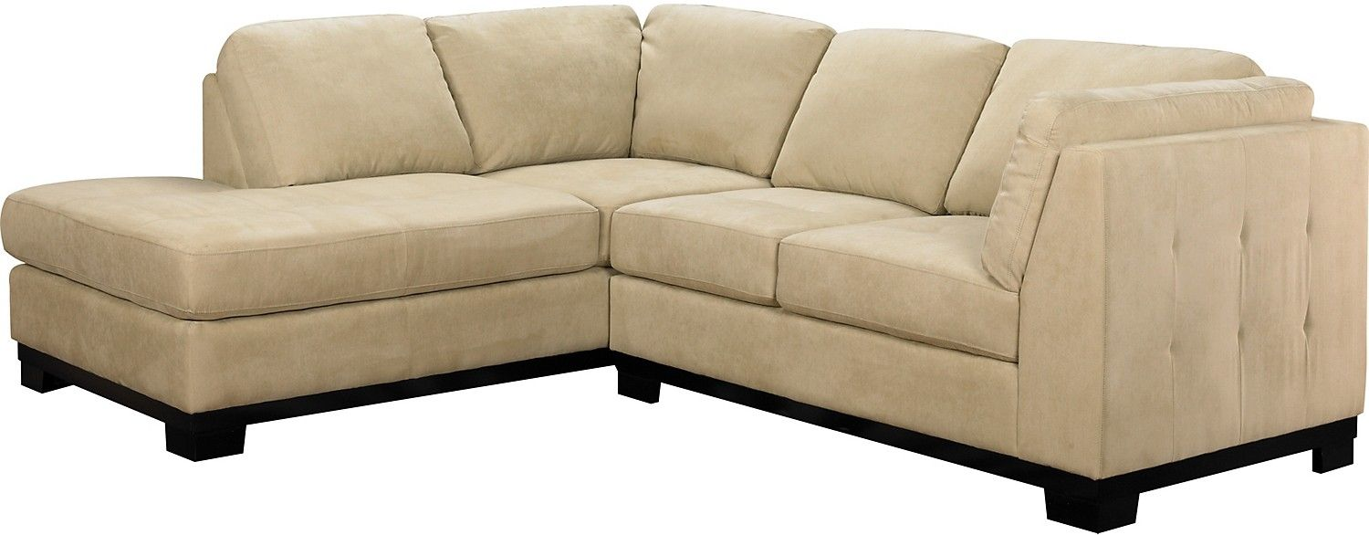 Living Room Furniture Oakdale 2 Piece Microsuede Sectional W