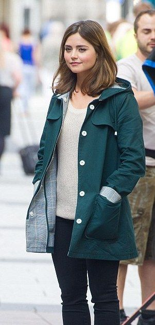 Doctor Who Clara Oswald Hooded Green Cotton Coat | Winter ...