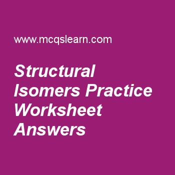 Structural Isomers Practice Worksheet Answers Quiz Questions And Answers This Or That Questions Chemistry