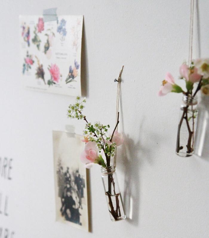 Diy Love Potion Medicine Vials As Wall Vases Gardenista Wall Vase Flower Vase Diy Diy Medicine