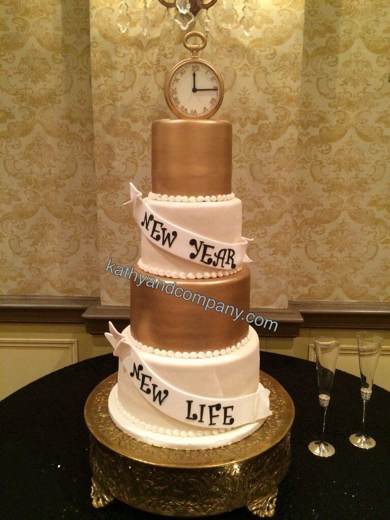 New years eve wedding cake. Love. New years eve weddings
