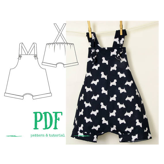 Boys Romper PDF pattern, Baby romper PDF, Boys Jumpsuit PDF, sewing ...