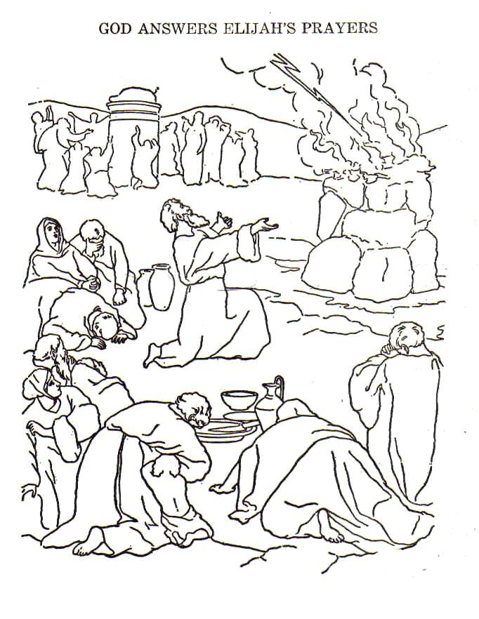 elijah coloring pages christian images in my treasure box - Elijah Coloring Pages