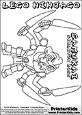 Ninjago skeleton coloring pages ~ Pin by Kimberly Blackwelder on Brooks | Coloring pages ...