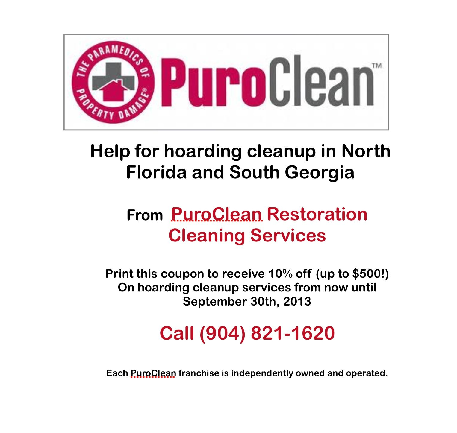 PuroClean Restoration Cleaning Services Jacksonville, Florida (904 ...