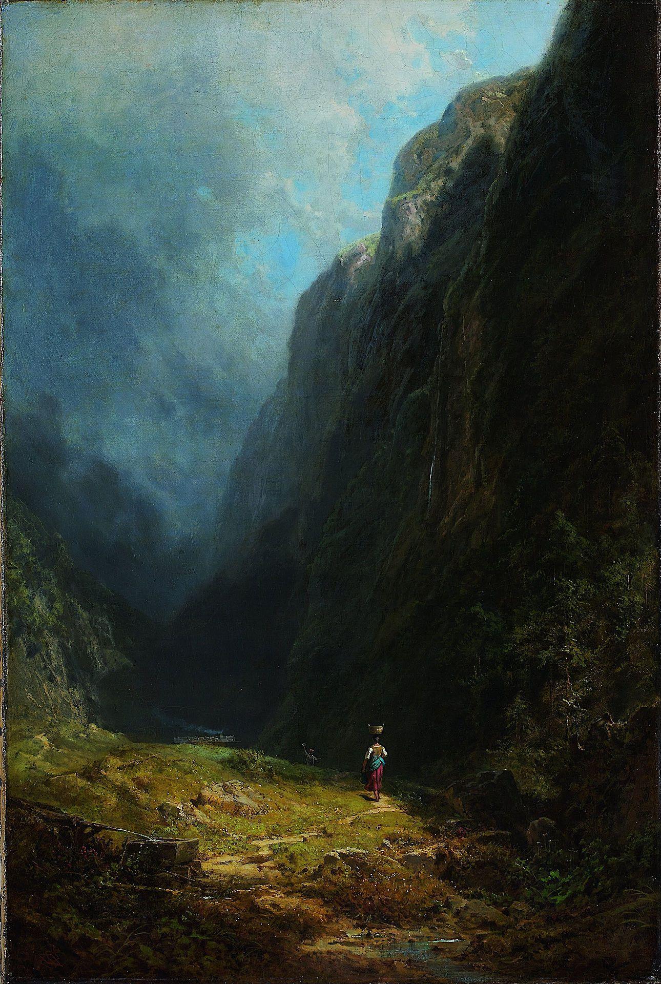 In the Alpine High Valley in Mt. Wendelstein, c. 1871