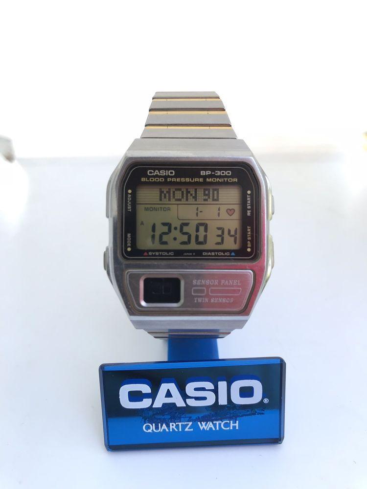 a926d716caf CASIO BP-300 Blood Pressure Heart rate pulse monitor Digital watch Rare  Japan