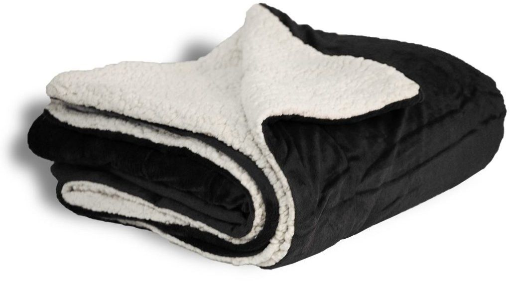 50x60 micro mink sherpa blanket- black Case of 12