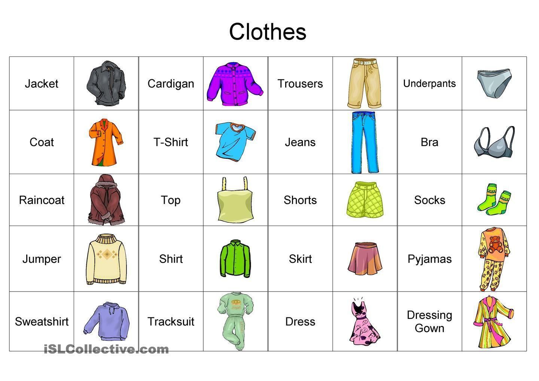 clothes vocabulary exercises - Google keresés | angol 4 ...