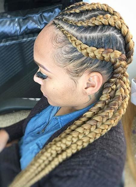 stylish ways rock cornrows