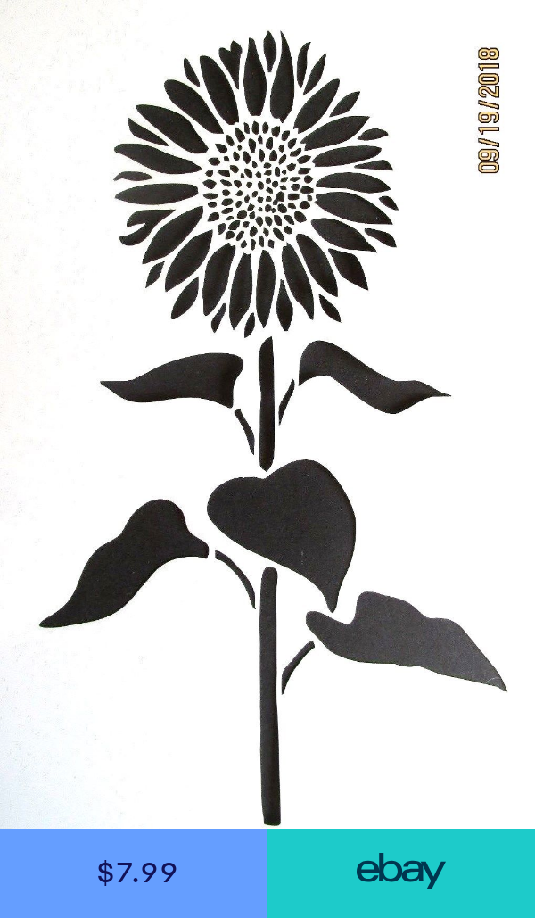 Template Reusable 10 mil Mylar Rose Stencil