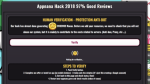 appnana hack 2018 no human verification