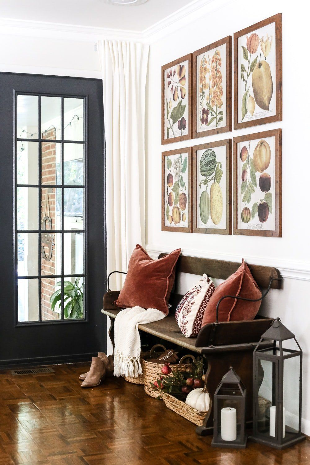 No Foyer Ideas : No porch ideas to decorate your entryway for fall instead