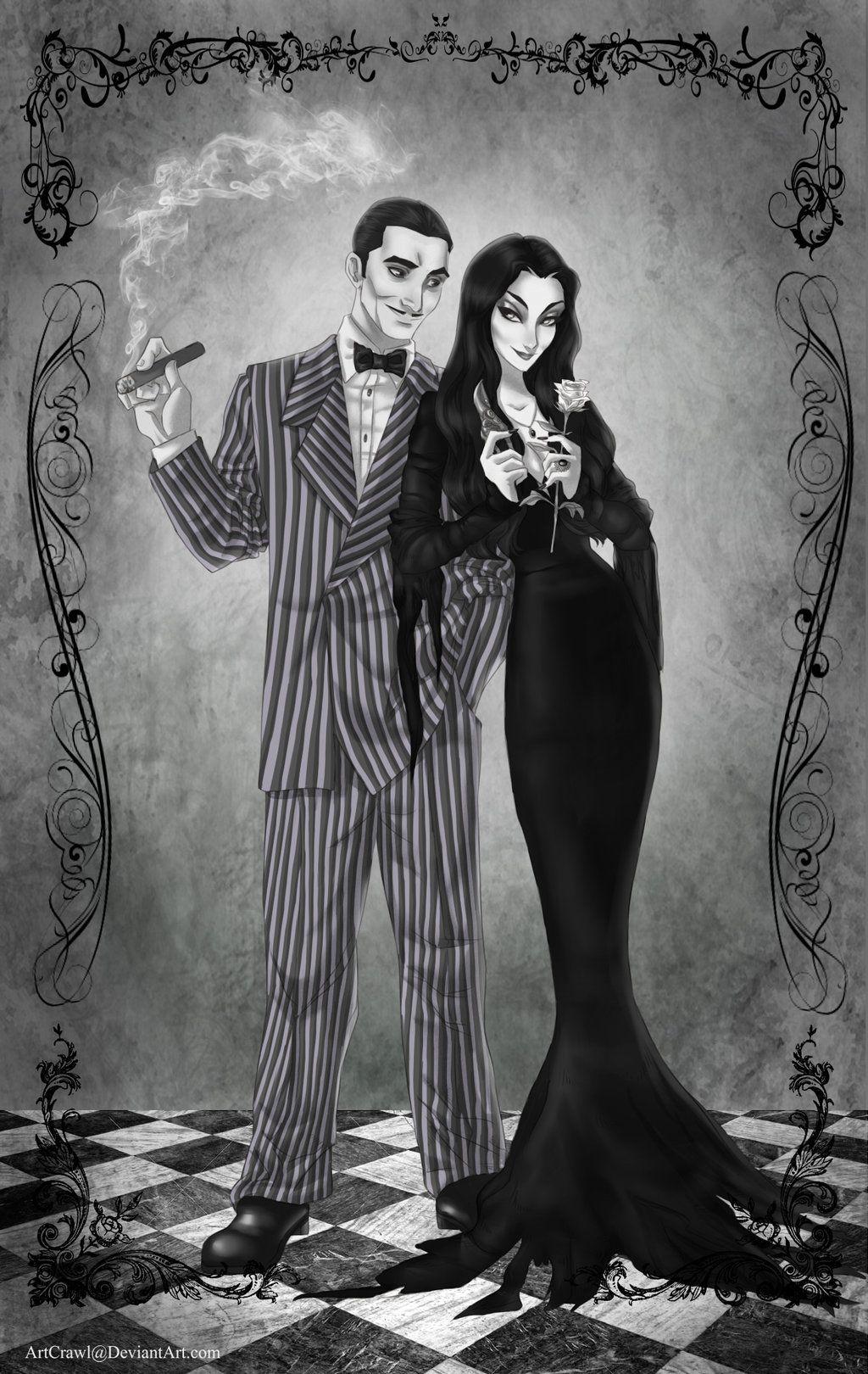Gomez and Morticia by ArtCrawl | Movie/Show Fandoms ...