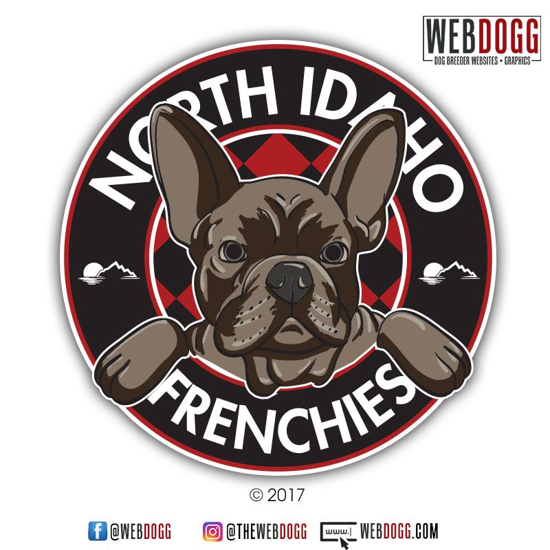 North Idaho Frenchies French Bulldog Breeder Logo Design
