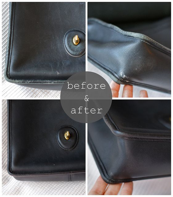 Restoring a vintage purse - how to make your worn purse look brand new  again! 89ee9e841fa47