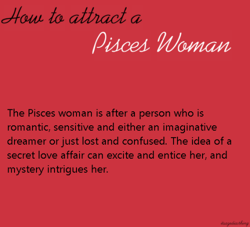 Attracting pisces woman