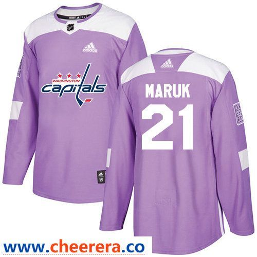 9325c2cae Washington Capitals  21 Dennis Maruk Purple Stitched Adidas NHL Men s Jersey  Fights Cancer Practice
