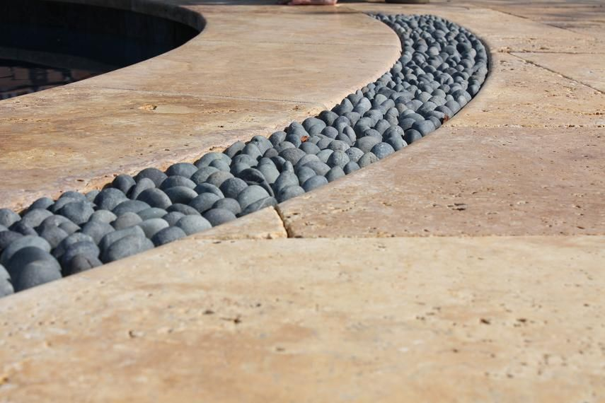 Merveilleux Travertine Patio | Pool Patio Drain  Http://www.groundtradesxchange.com/forums/hardscaping .