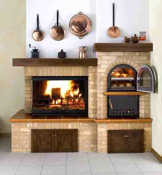 Immagine correlata fire pit pinterest chimenea - Camino con forno ...