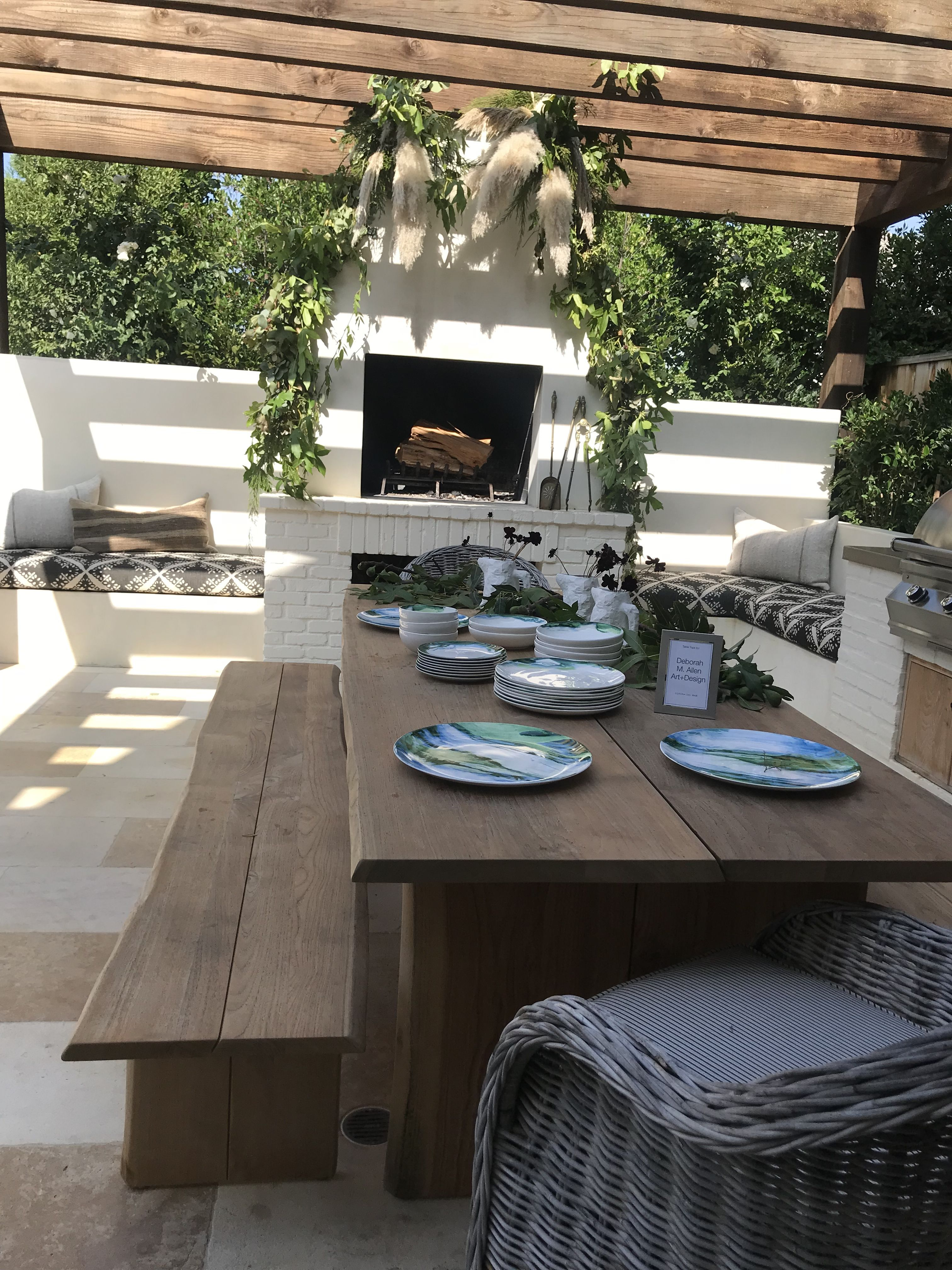 Pin On Front Yard Modern outdoor fire dining table