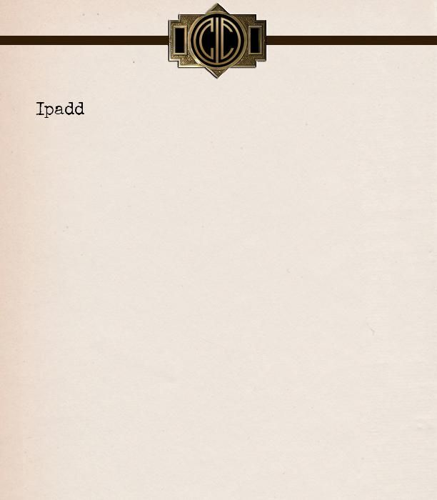 I created my own custom stationery with The Great Gatsby Monogram Maker