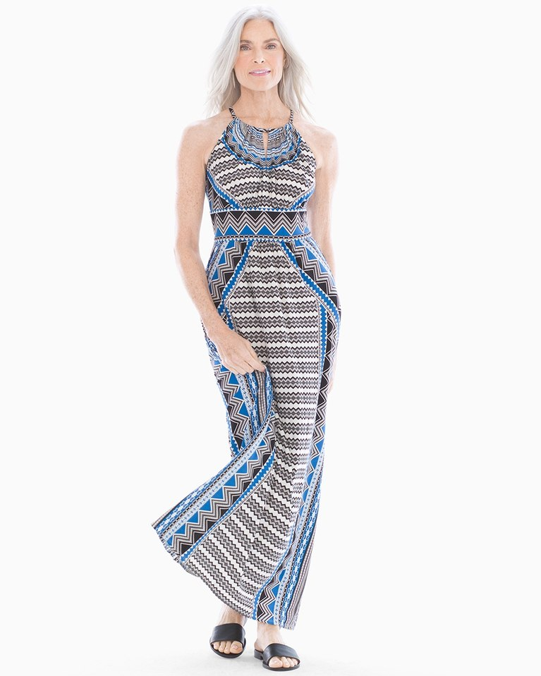 45113a644e Maggy London Geo Print Halter Maxi, from Soma | Products | Pinterest ...